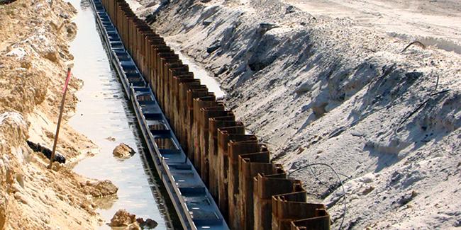 Damwanden - Ondersteuning van de opgraving